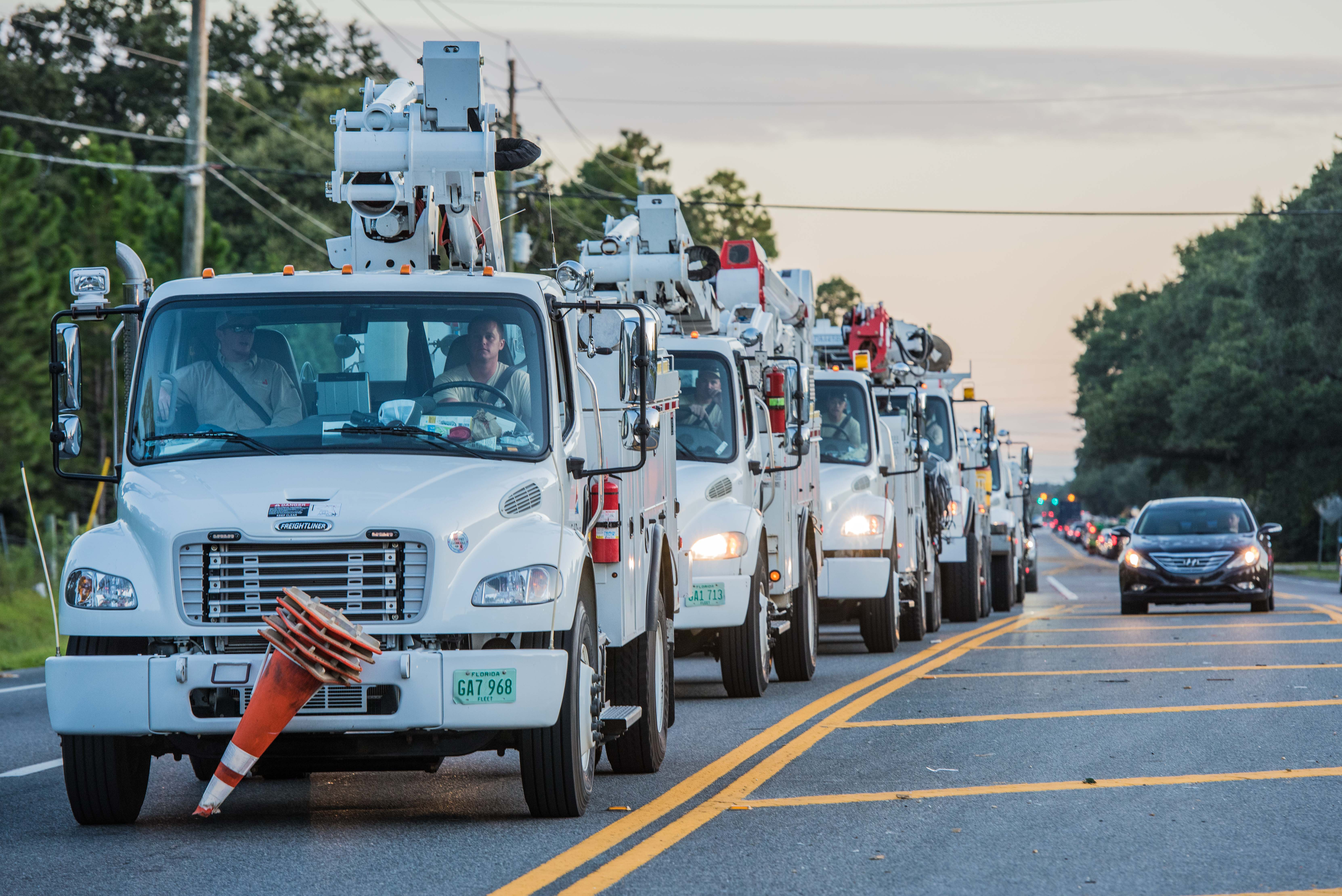 Gulf Power Crews Making Inroads To Panama City Beach Outages