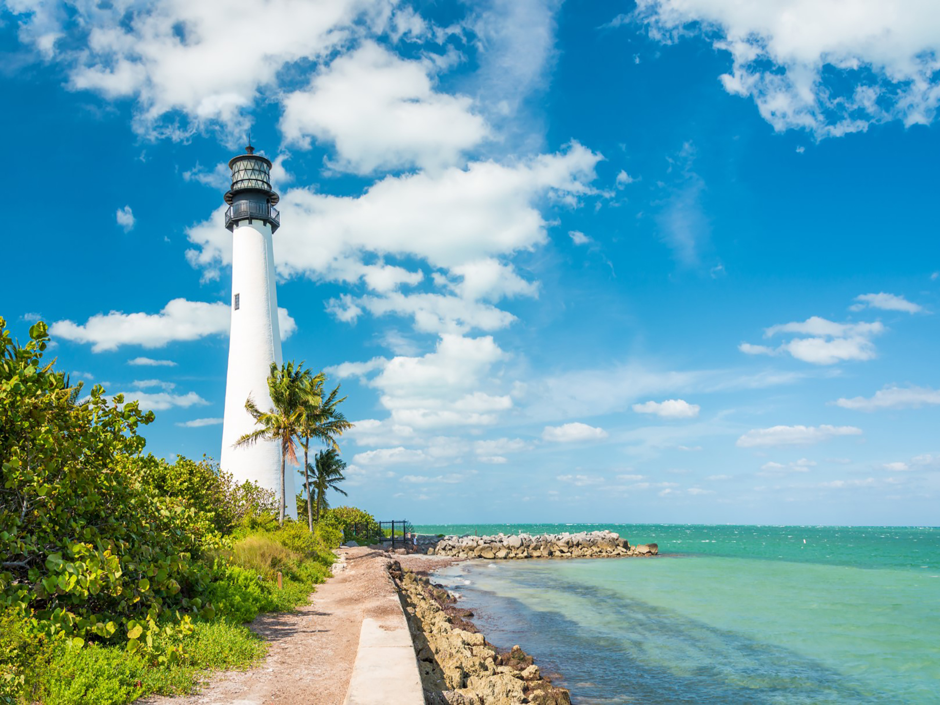 Famous lighthouse at Key Biscayne, Miami