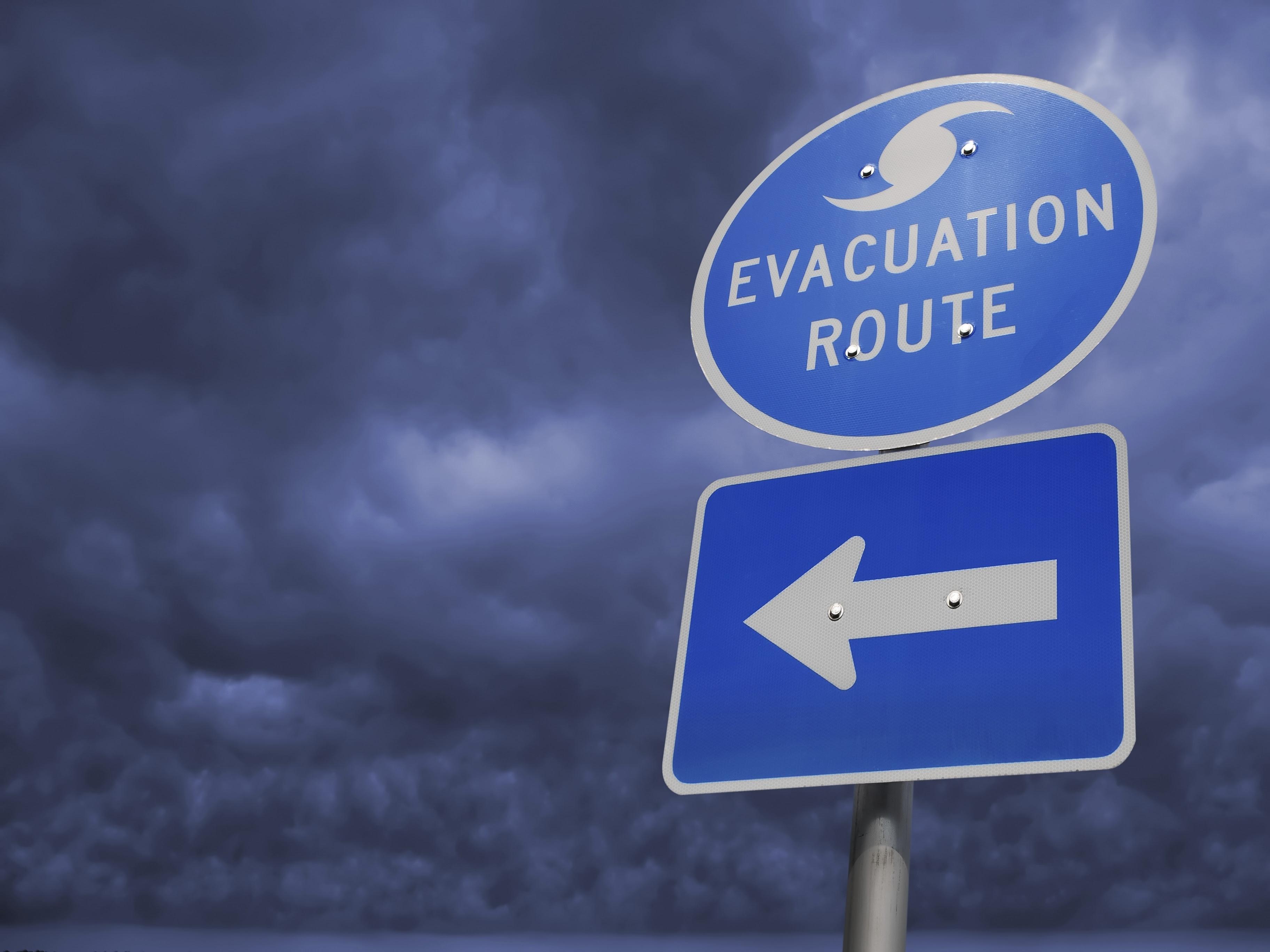 Evacuation Route Sign, photo: AAA
