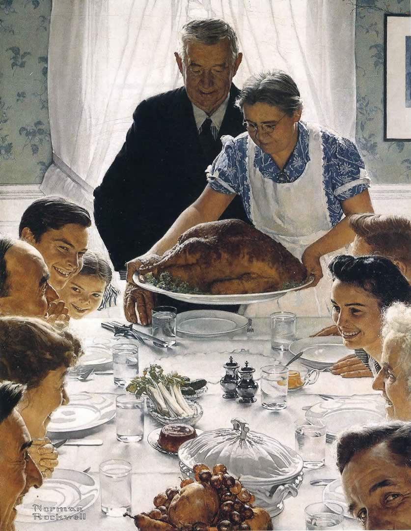 """""""Freedom from Want"""" by Norman Rockwell"""