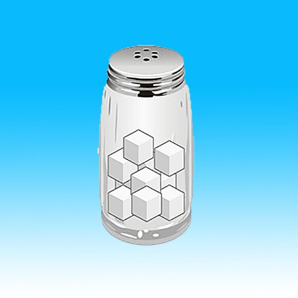 salt shaker - half full EDIT