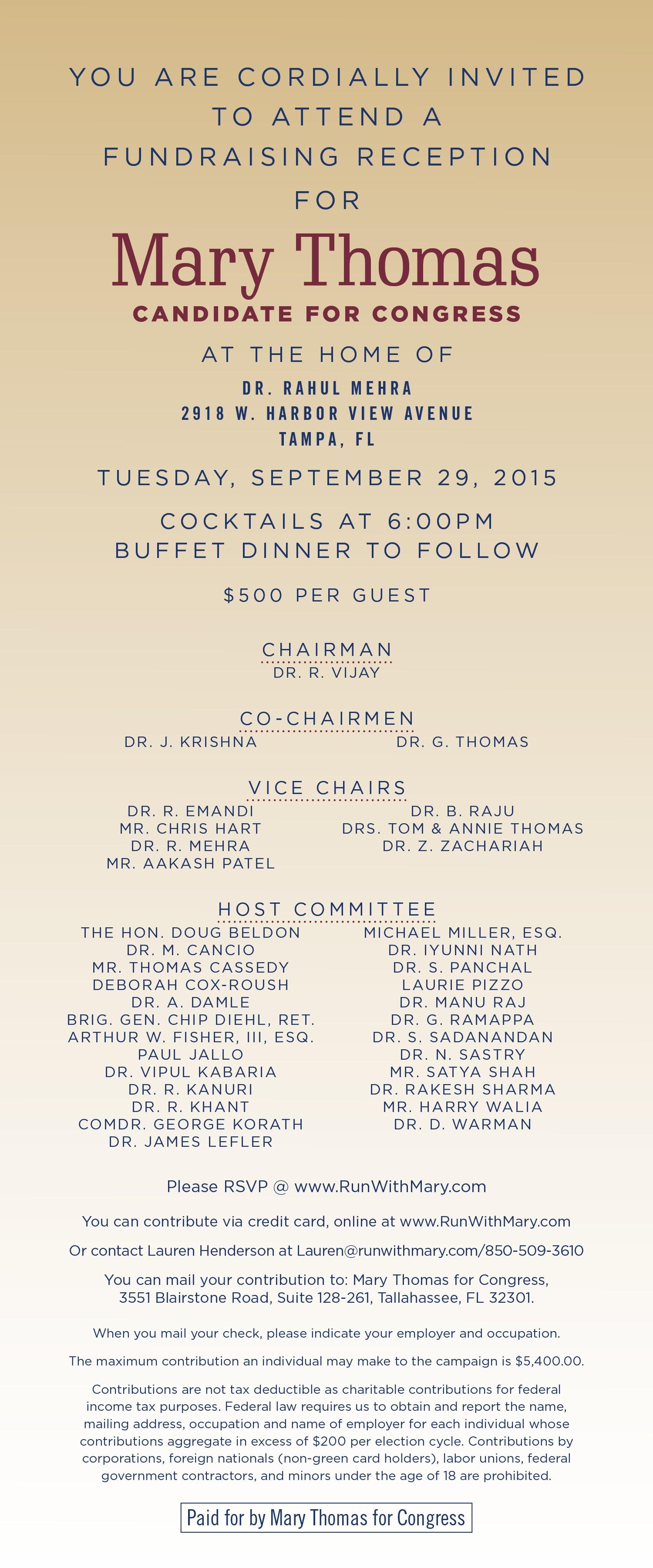 Thomas Fundraiser 09-29