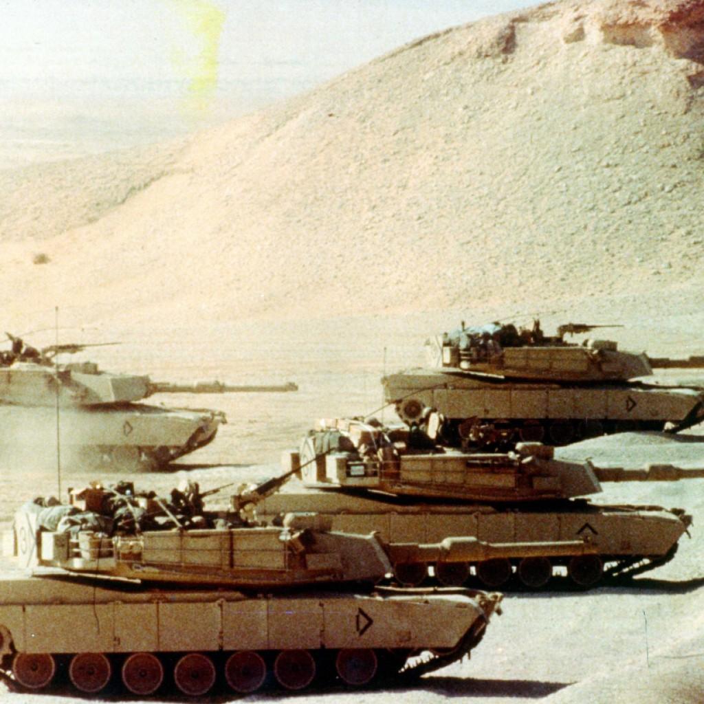 TRUMP LEADING ARMY