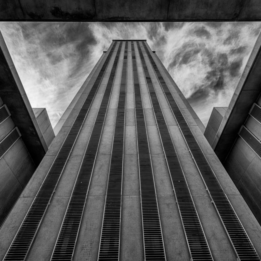 florida capitol - black and white