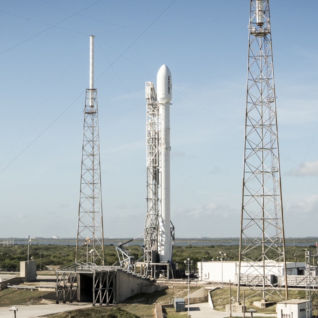 SpaceX Falcon 9 rocket at Cape Canaveral Air Force Station