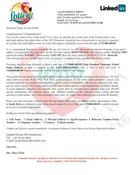 FL lottery scam Naples Private Investigator Detective PI