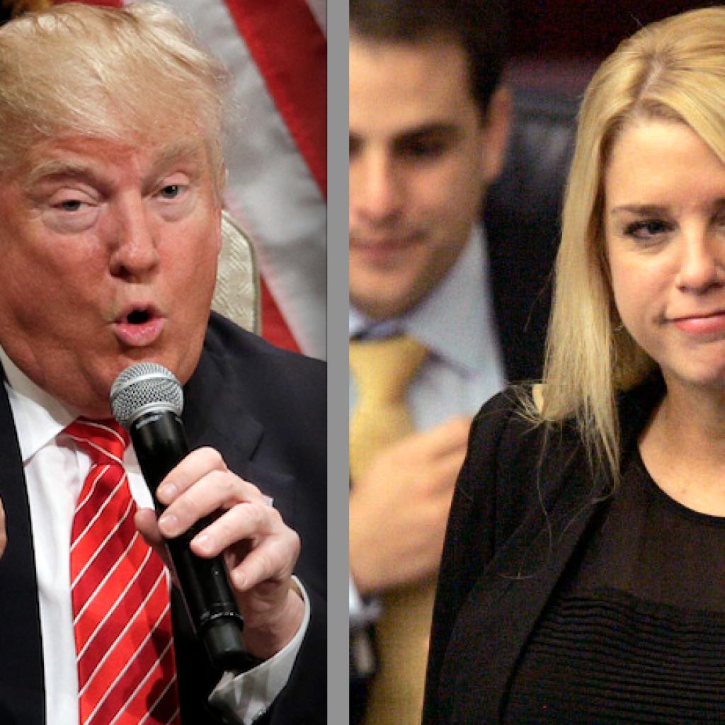 Donald Trump and Pam Bondi