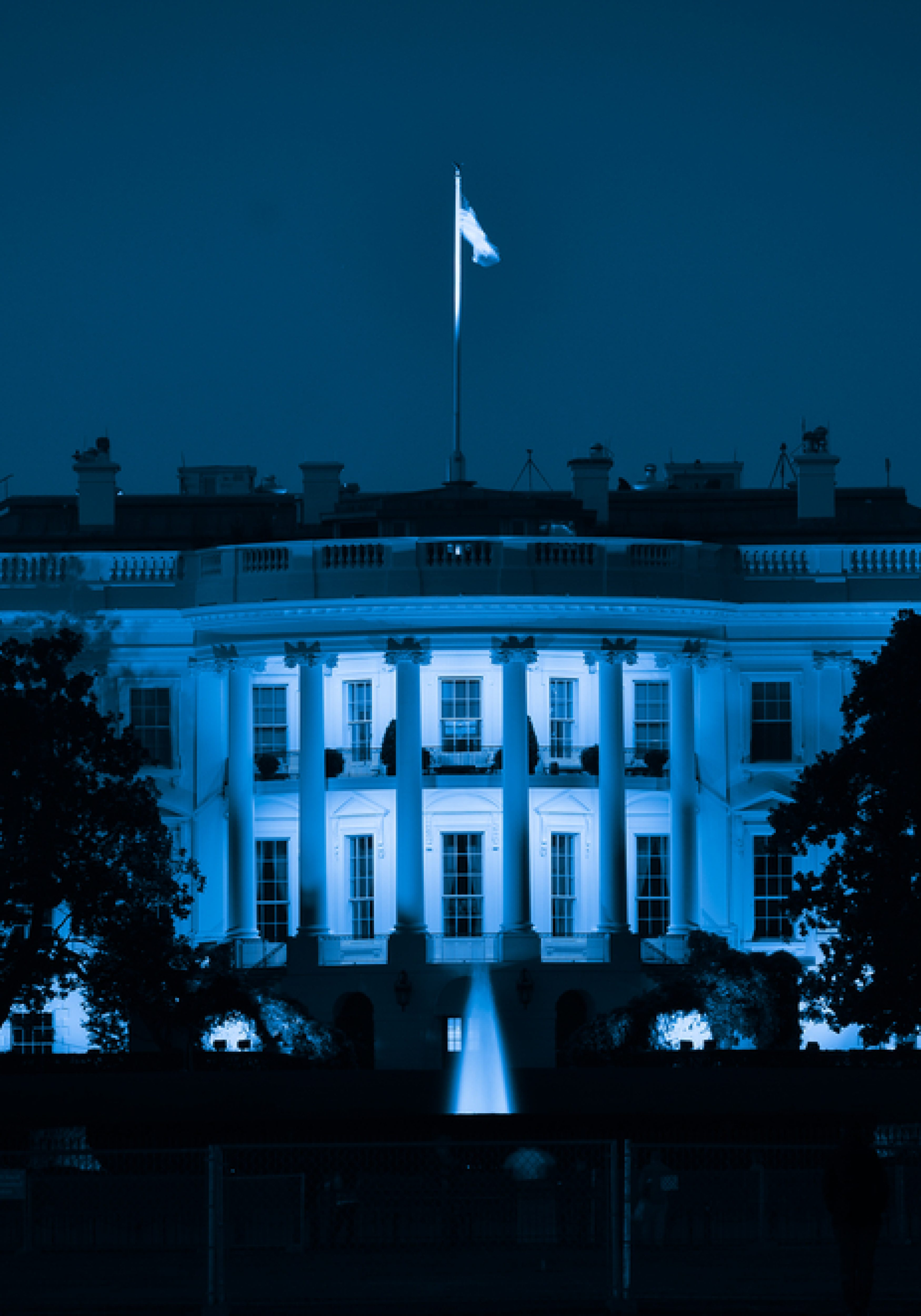 white house - blueish