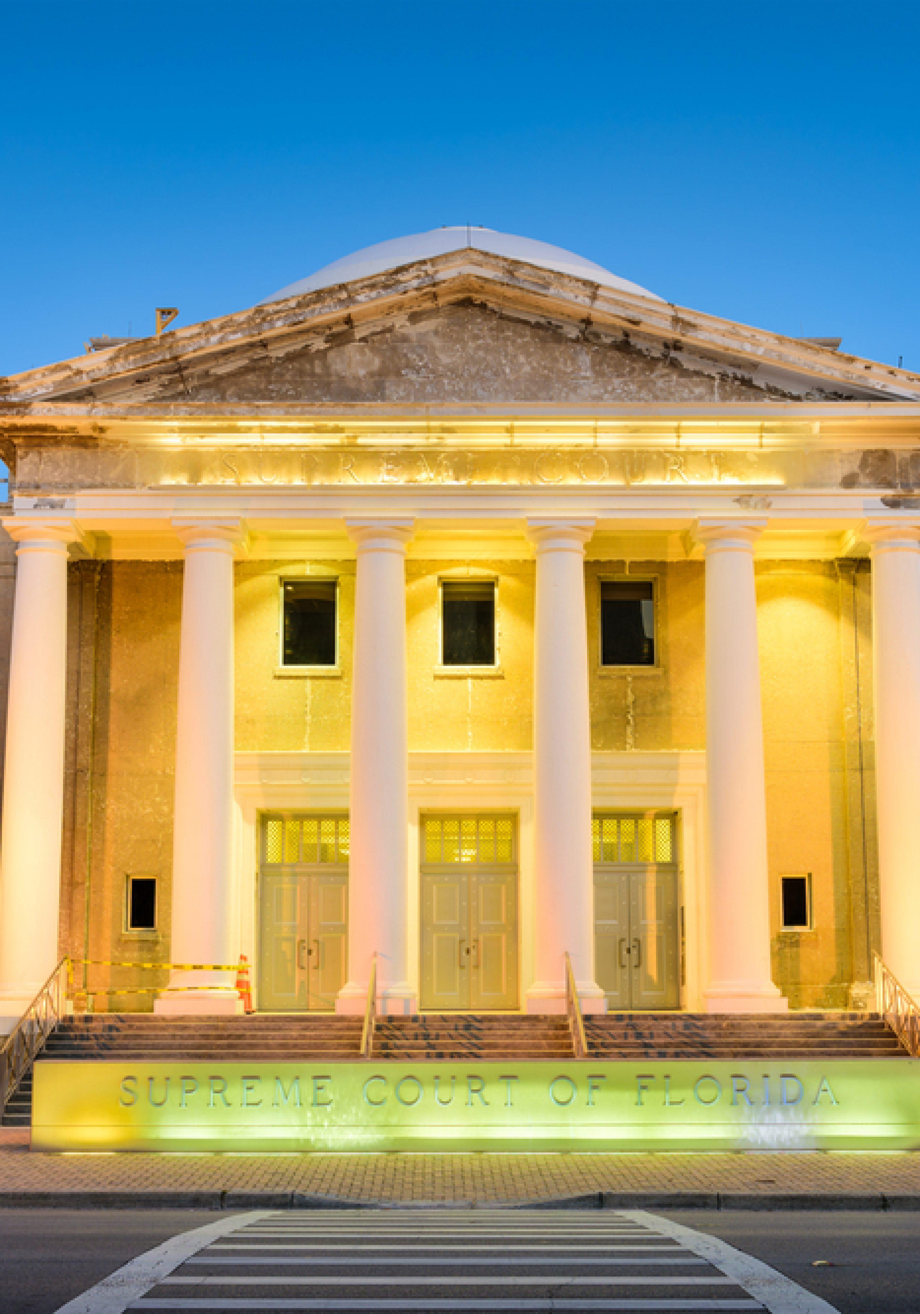 florida supreme court - lit up