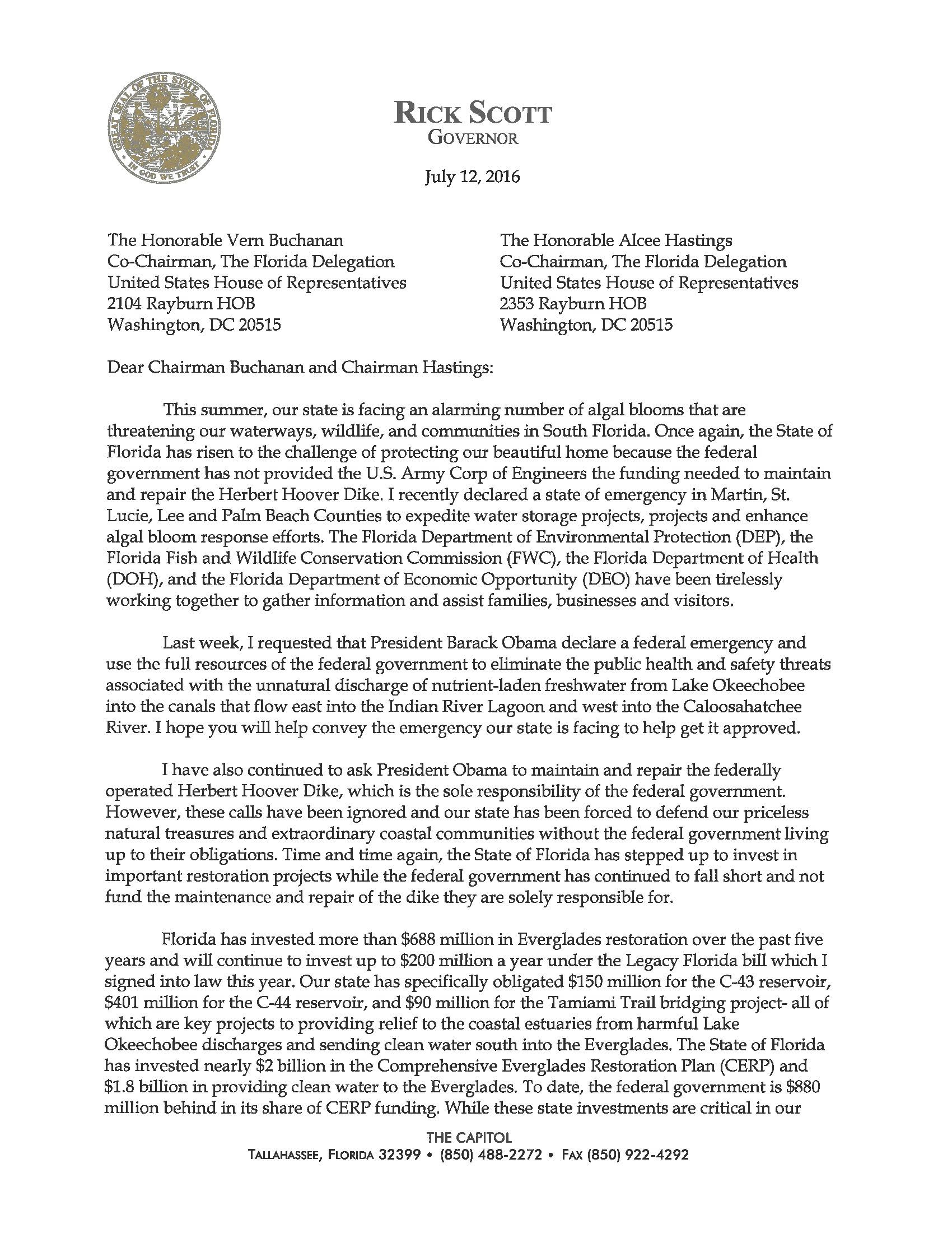 Gov. Scott Letter to Congressional Delegation_Page_1