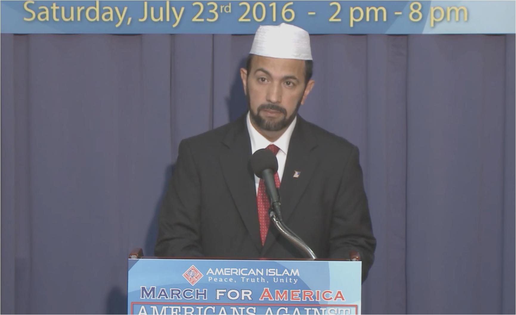 Muhammad Musri calls peace march on Washington