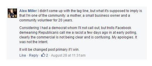 alex miller response