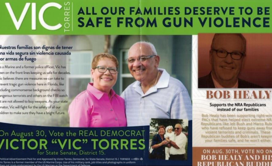 Victor Torres mailer Bob Healy