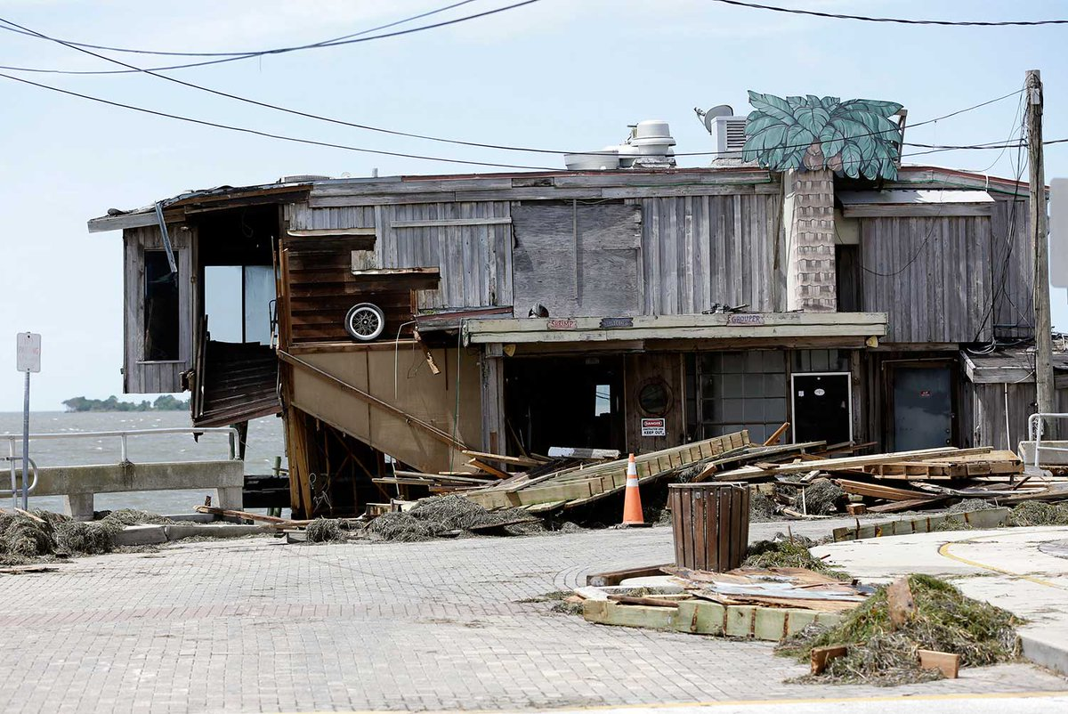 Hermine damage Cedar Key