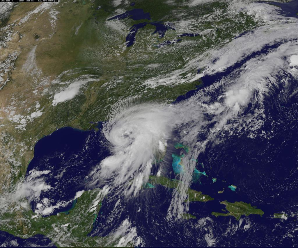 Hermine from space
