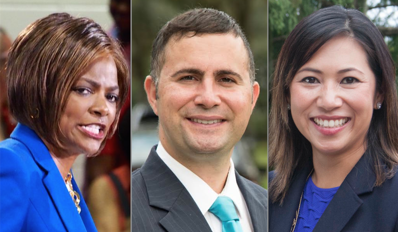 Val Demings, Darren Soto and Stephanie Murphy