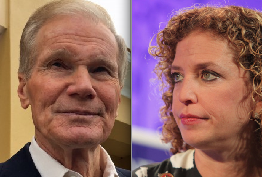 Bill Nelson and Debbie Wasserman Schultz