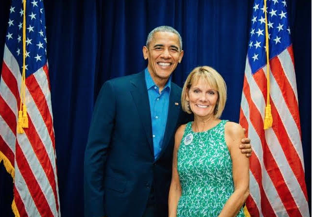 Barach Obama and Barbara Cady
