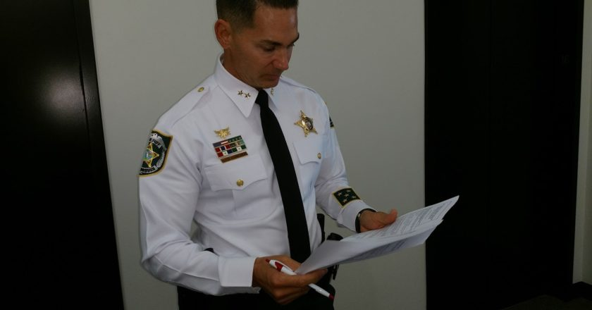 interim Hillsborough County Sheriff Chad Chronister