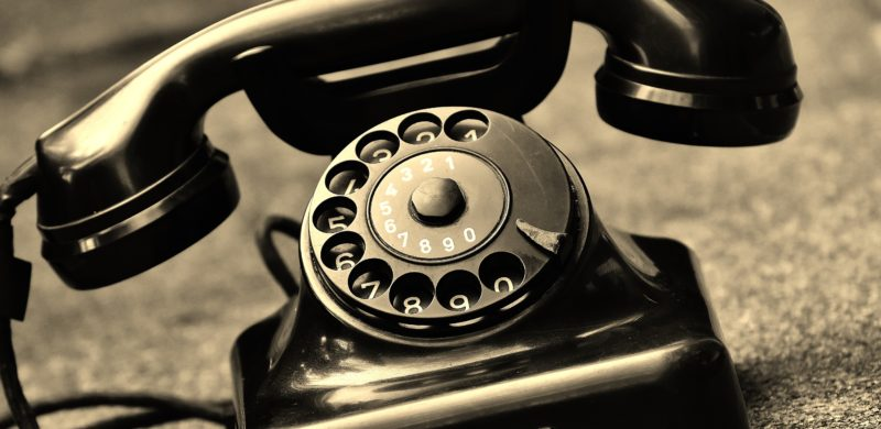 old telephone rotary dial