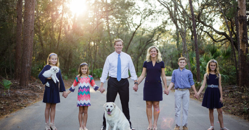 Chris Hunter, CD 12 Democratic Candidate, with Family (Photo pulled from official campaign website)