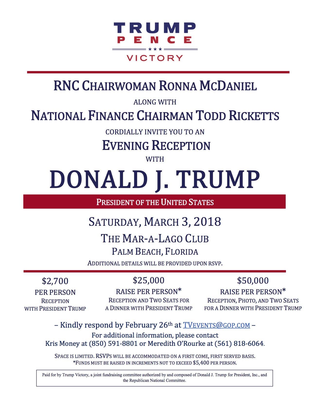 Trump Fundraiser March 3