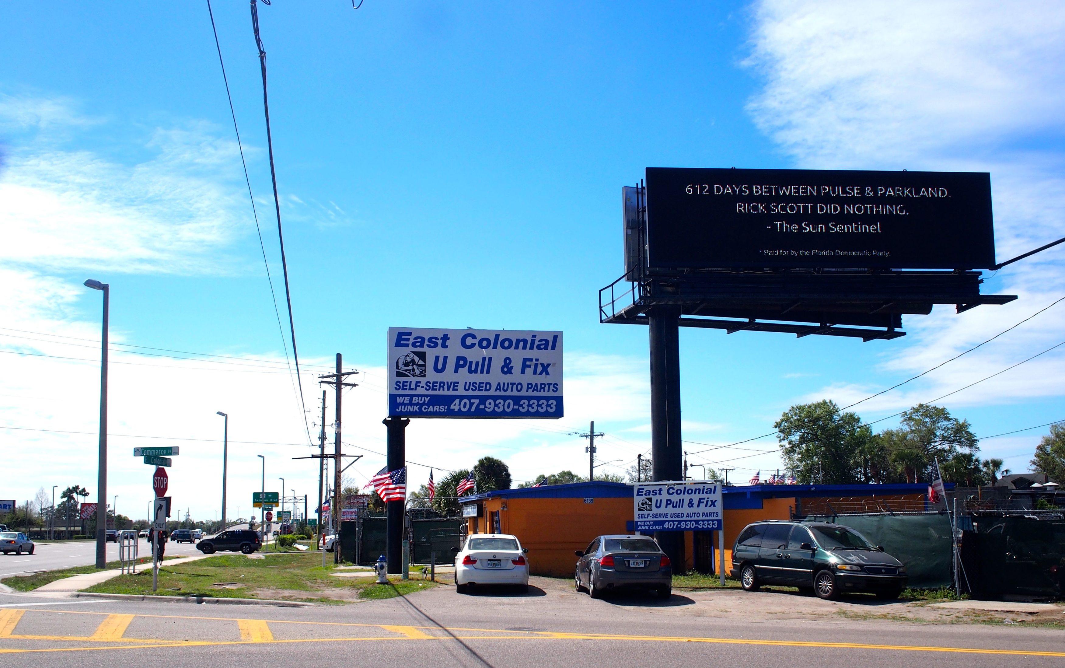 Rick Scott Billboard on Colonial