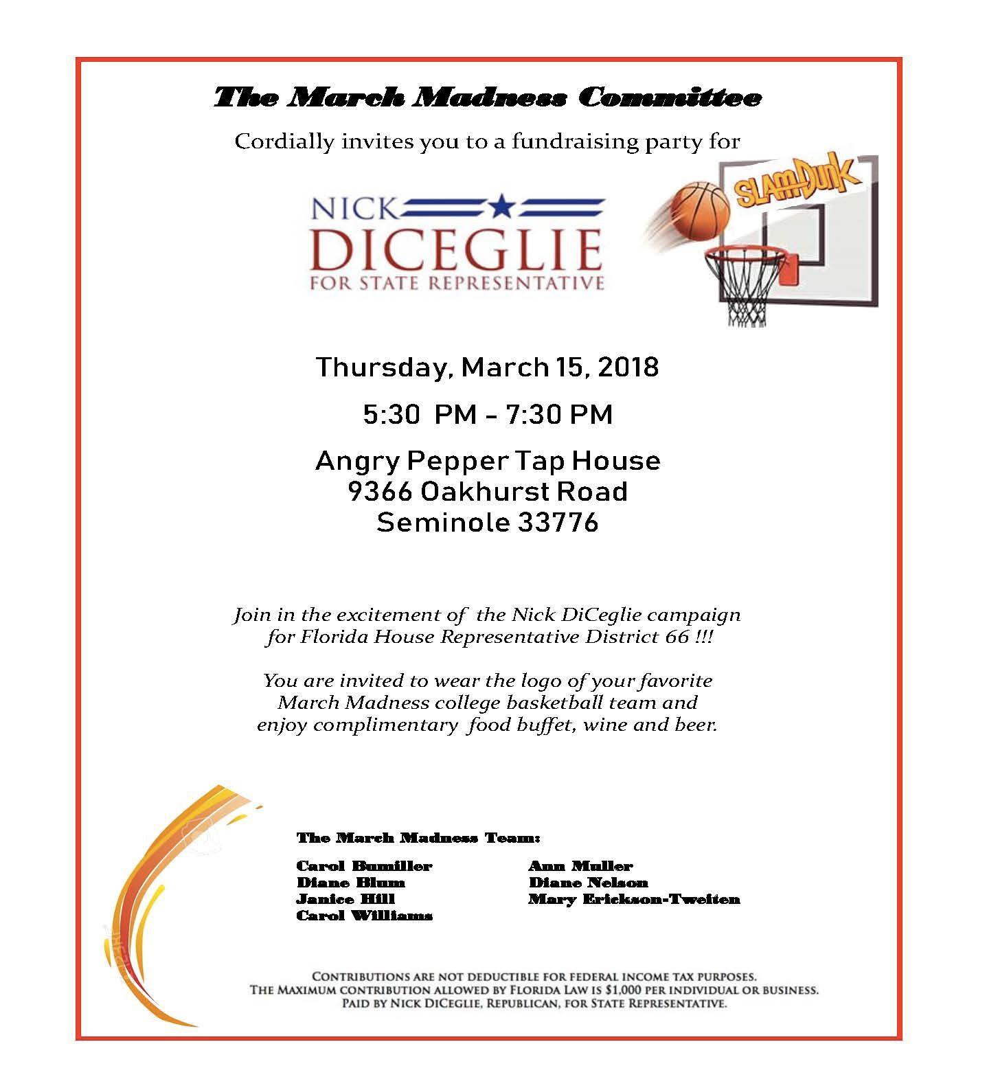 DiCeglie Fundraiser 3.15.18
