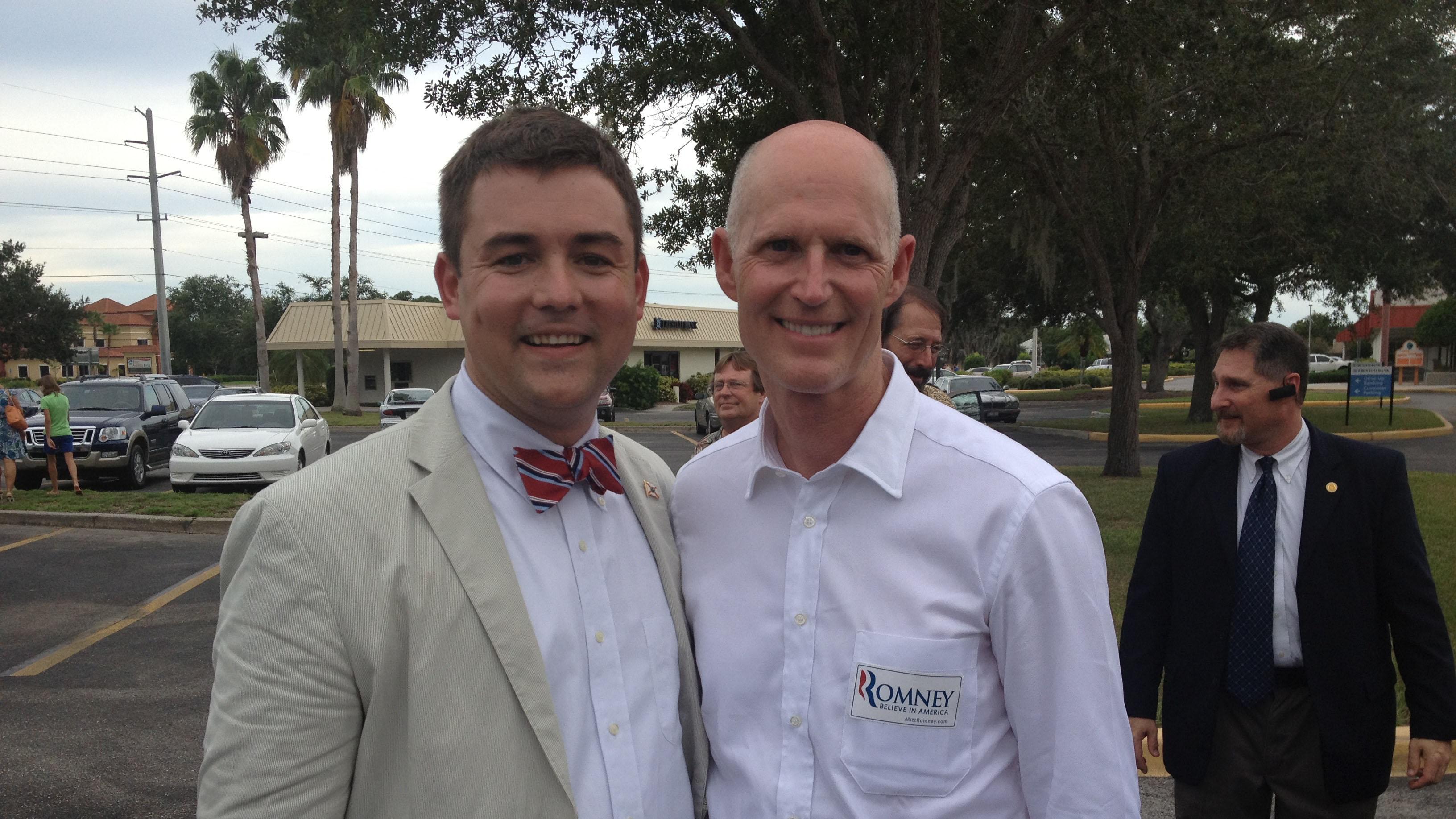 Christian Ziegler with Rick Scott