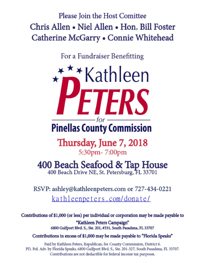 Kathleen Peters fundraiser 6.7.2018