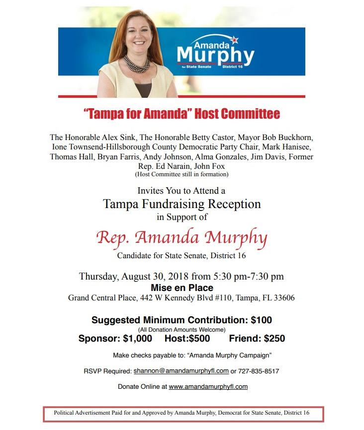 Amanda Murphy fundraiser invite