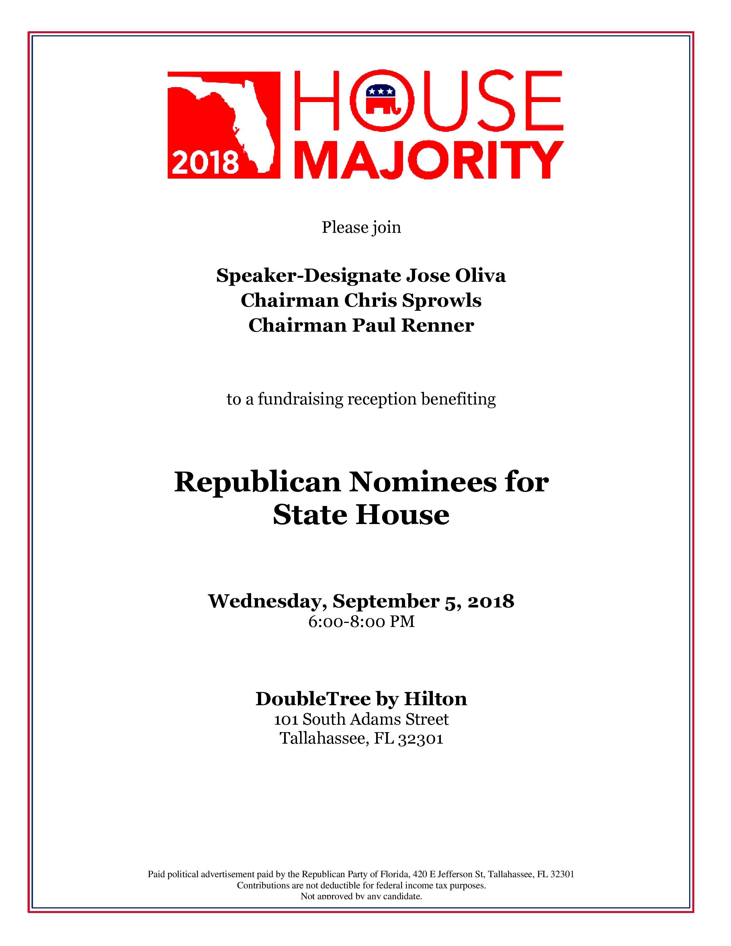 House Majority fundraiser 9.5.2018