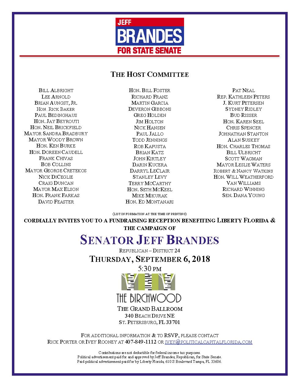 Brandes fundraiser 9.6.2018