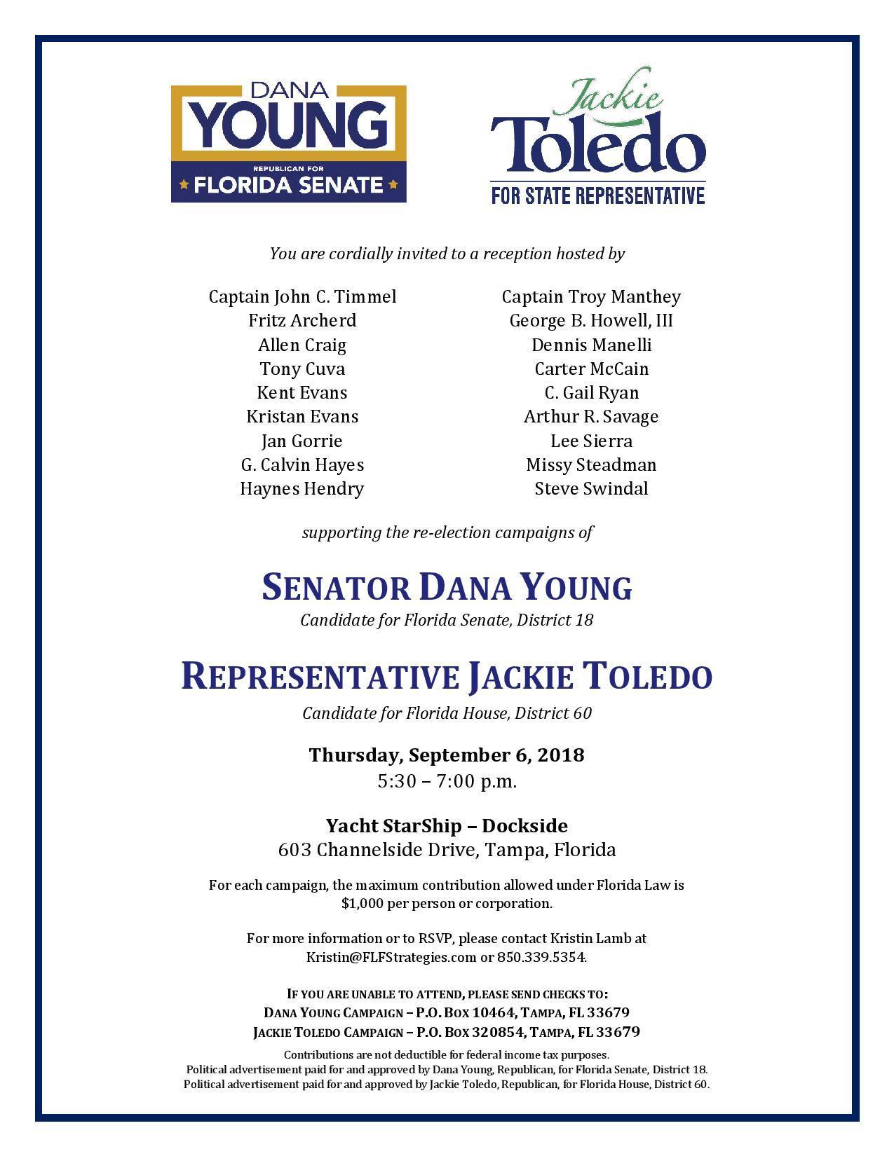Dana Young & Jackie Toledo fundraiser 9.6.2018