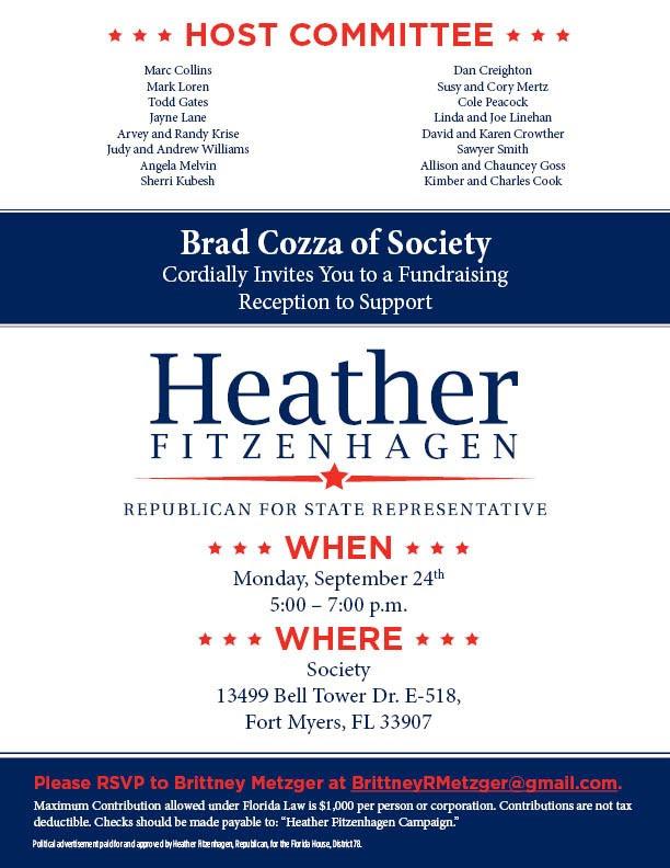 Fitzenhagen fundraiser 9.24.2018