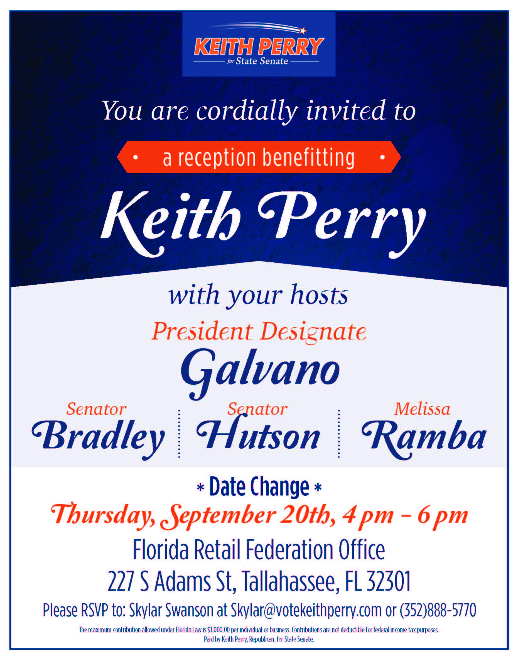 Keith Perry Fundraiser 9.20.2018