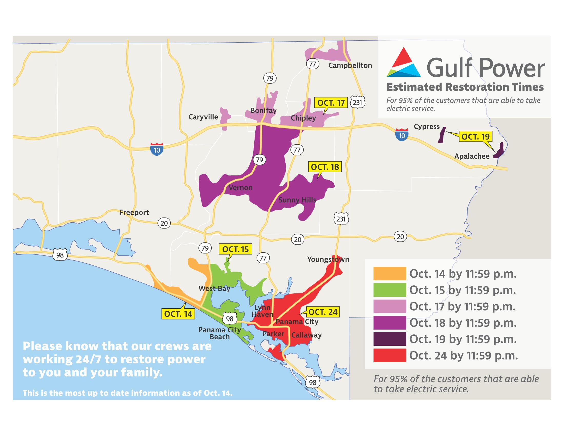 Gulf Power EstimatedRestorationTimes-Map-101418_Page_1