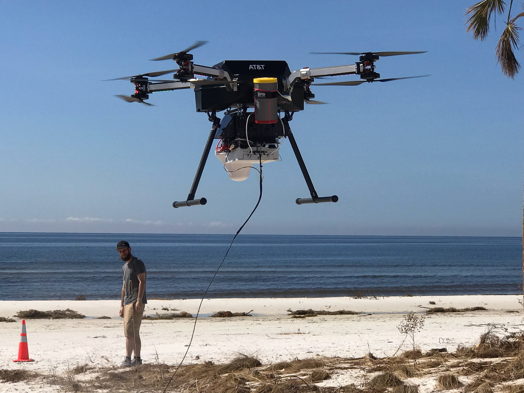 Flying Cow Brings Cell Service Back To Mexico Beach