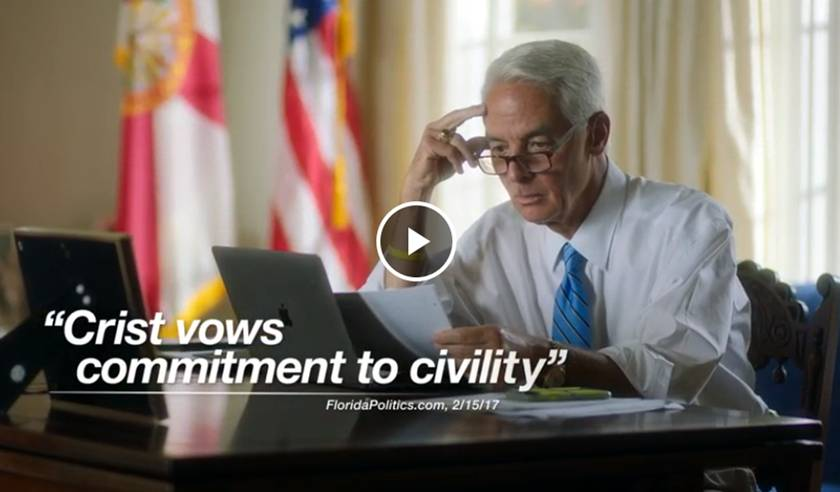 This is Charlie -- Charlie Crist TV ad
