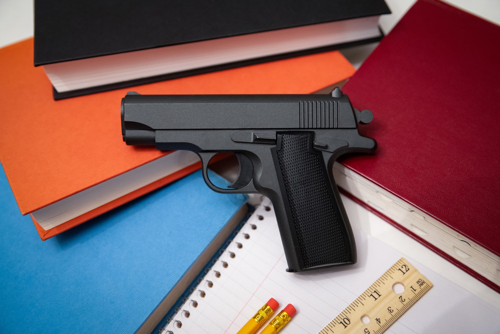 School Supplies and Handgun