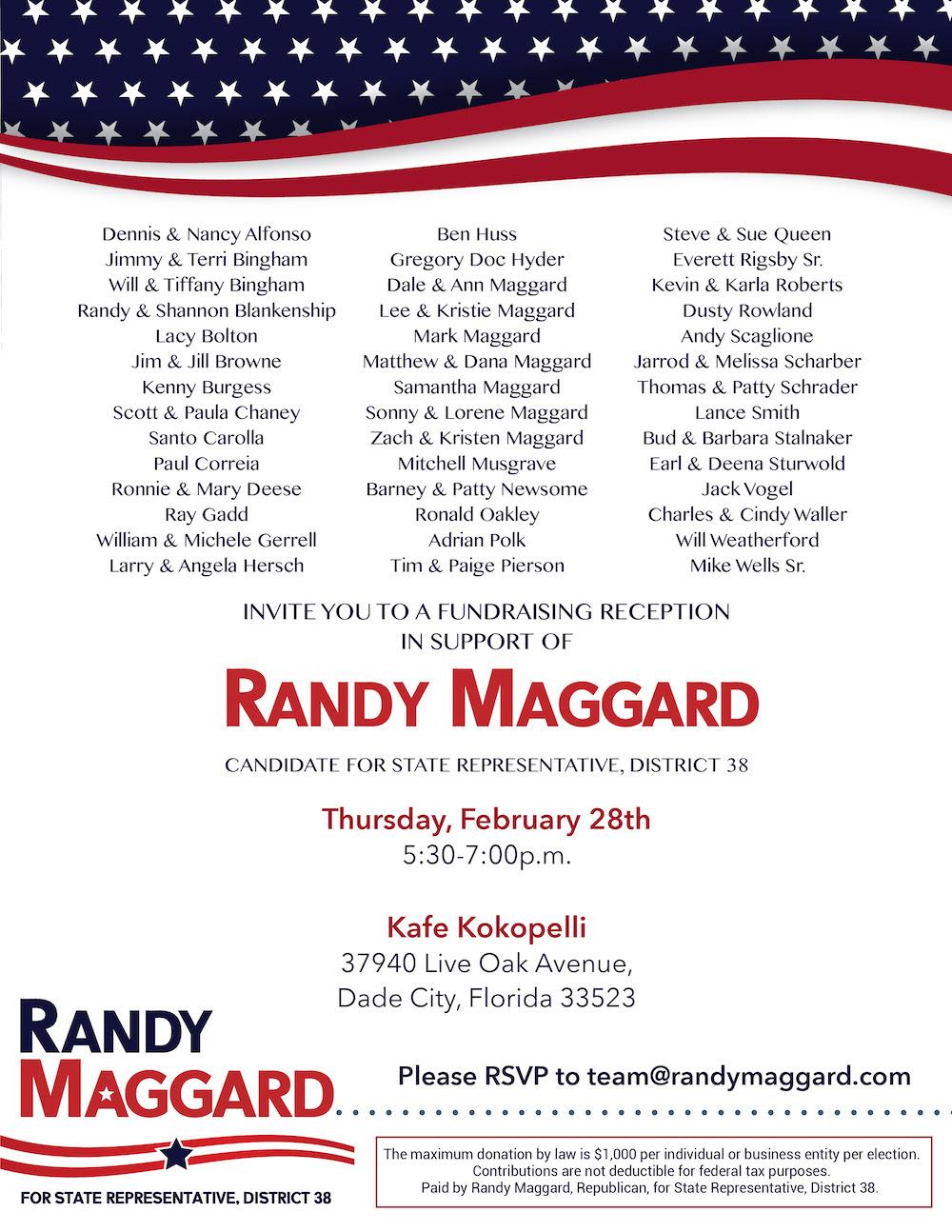 Maggard Fundraiser Invite 2.28.2019