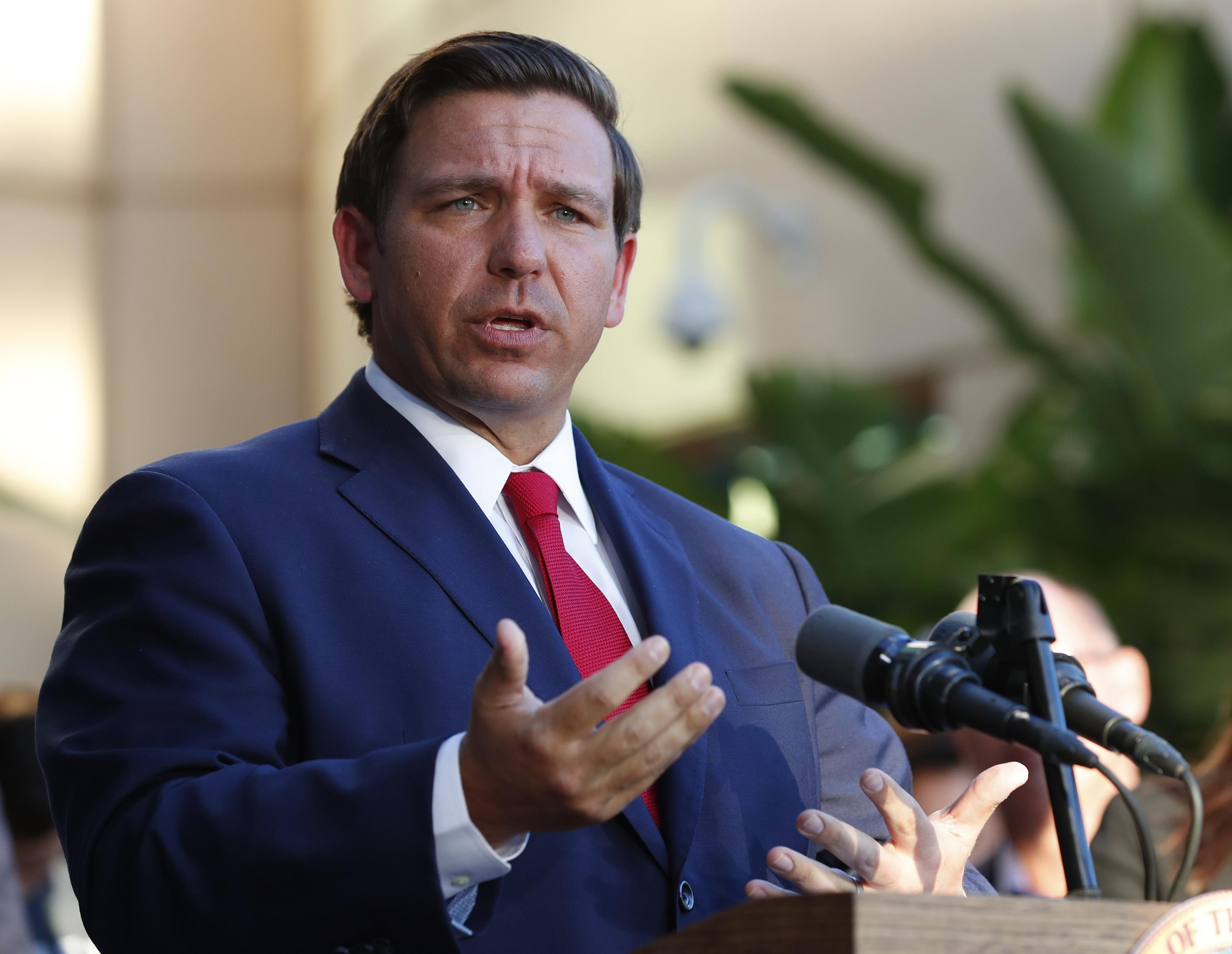 Ron DeSantis image via the Gainesville Sun