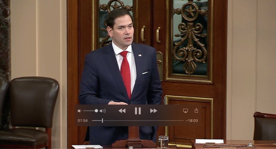 Marco Rubio on Senate floor