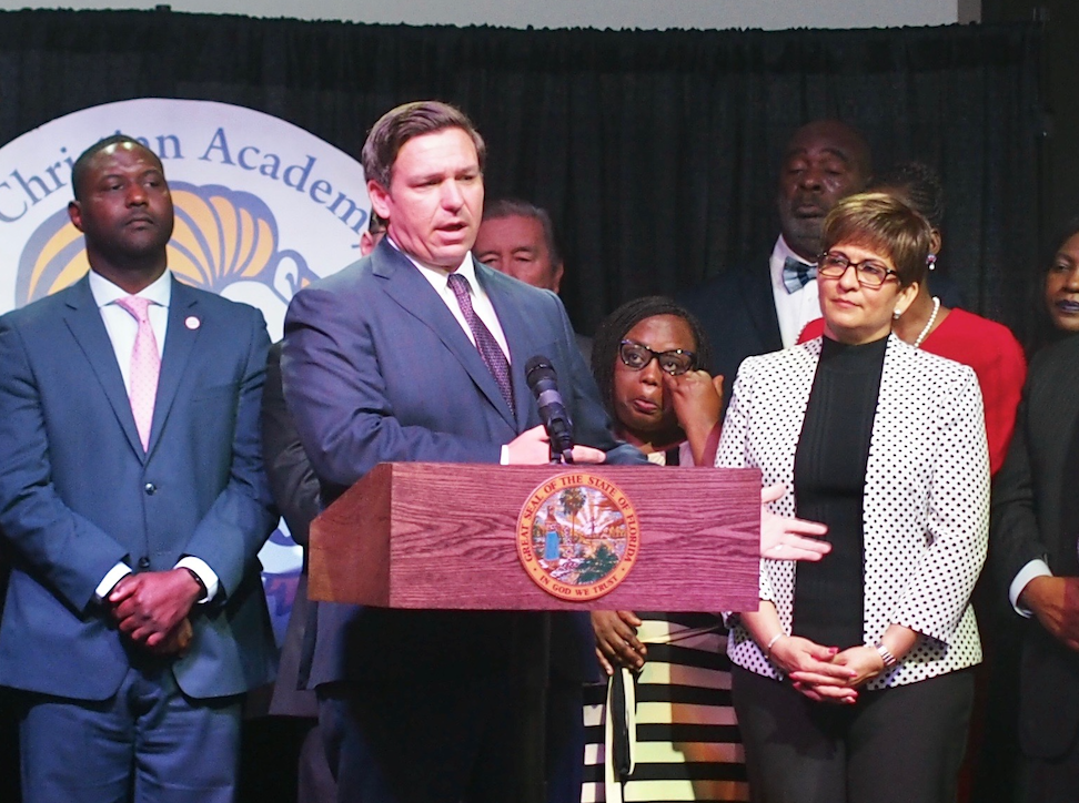 Tax Credit Scholarships Praised By >> Ron Desantis Unveils Equal Opportunity Scholarship For School Choice