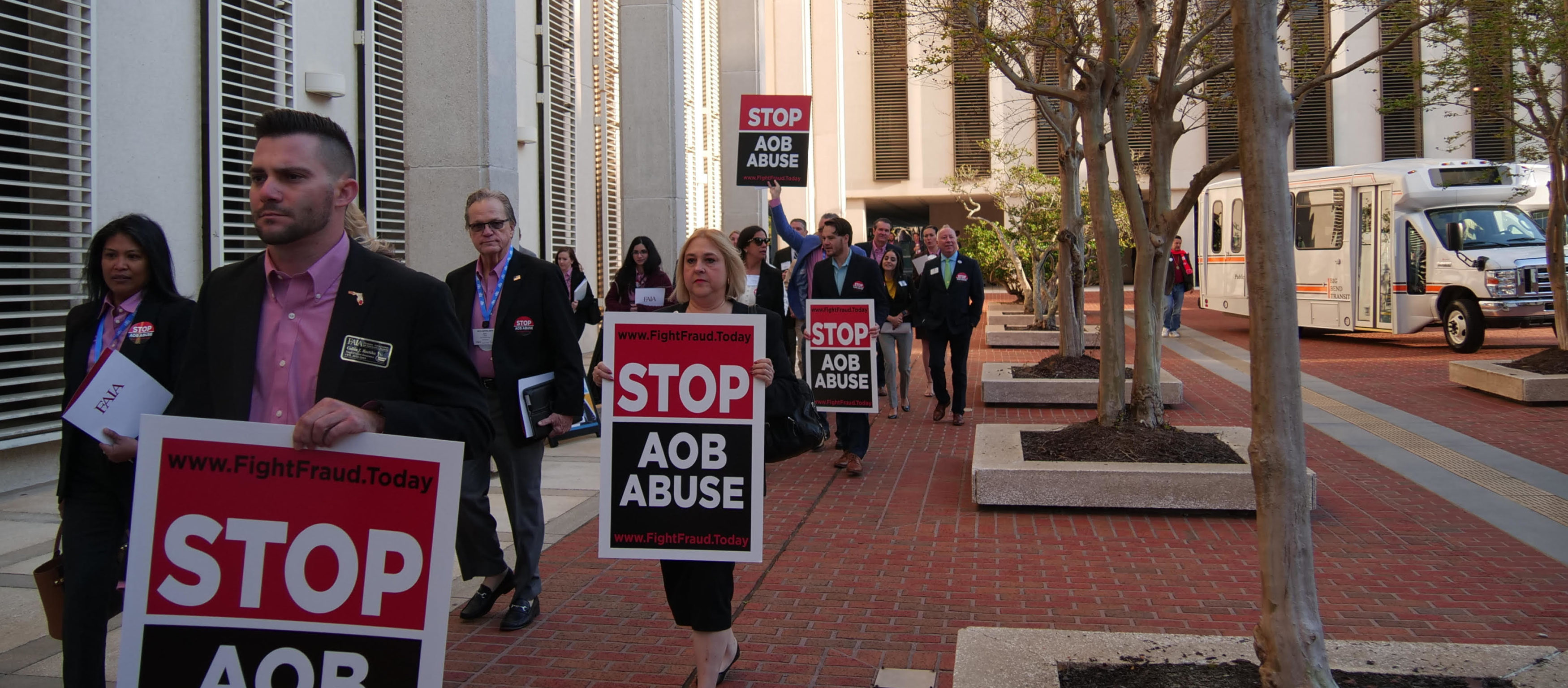 AOB Abuse March on Capitol