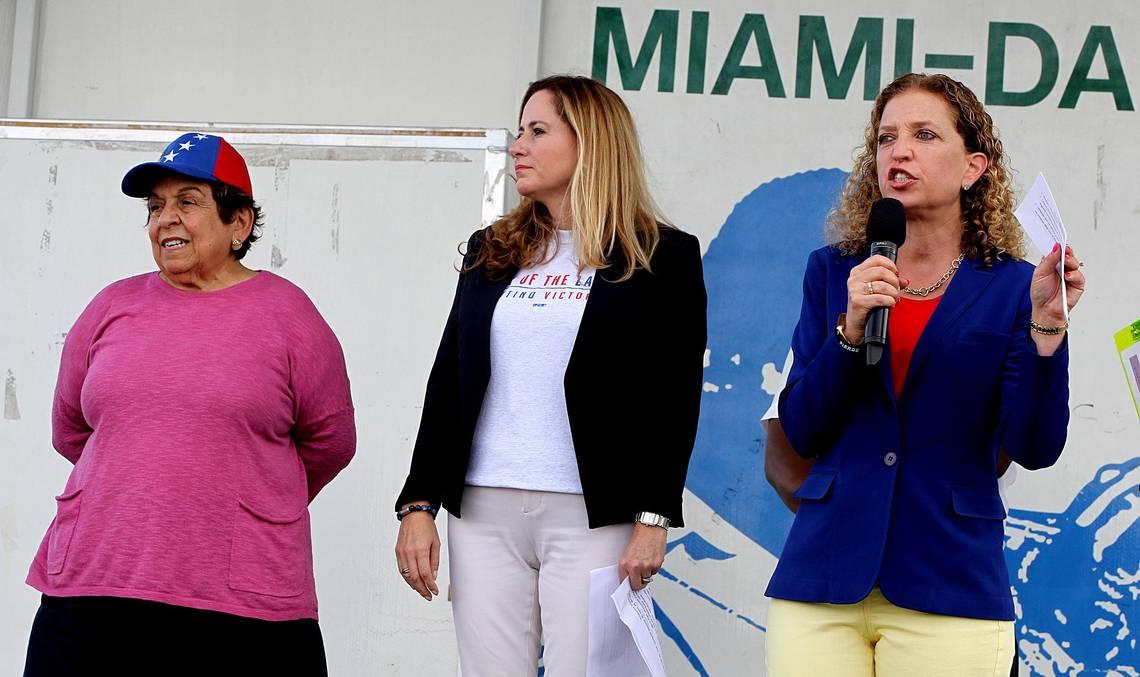 Debbie Wasserman Schultz,Donna ShalalaandDebbie Mucarsel-Powell
