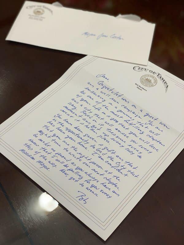 Buckhorn letter