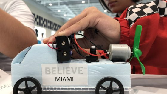 On Oct. 26, more than 100 AT&T employees paired up with area students to build and race cars at FIU. The event was part of Dibia DREAM STEM, a program aimed at providing recreational science, technology, engineering and mathematics education to underserved youth in Miami.