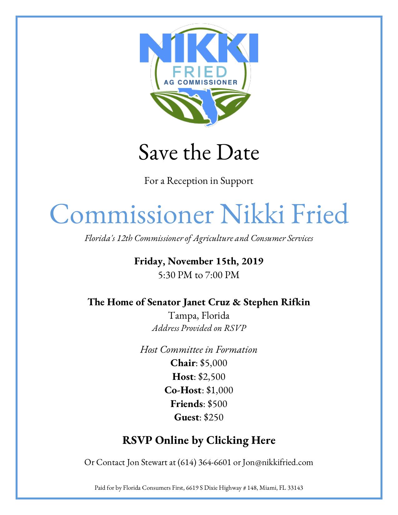Fried Fundraiser invitation Nov, 15
