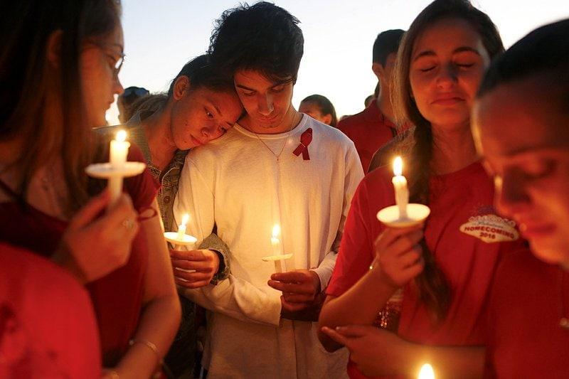parkland - candlelight vigil